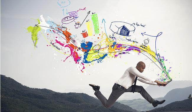 Бизнесмен с творческим мышлением