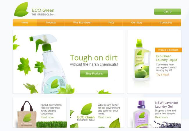 Шаблон для интернет-магазина экологически чистых продуктов