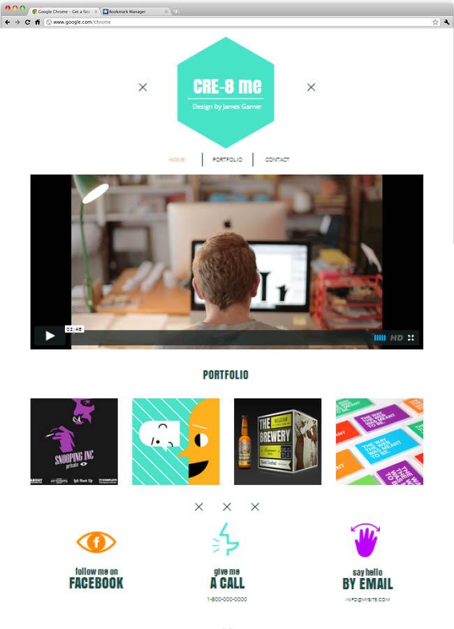 Шаблон сайта дизайн-студии