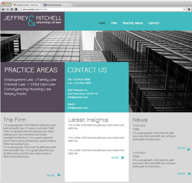 Шаблон сайта для юридической фирмы