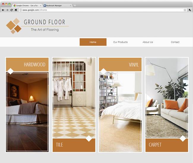 Шаблон сайта дизайнера интерьеров