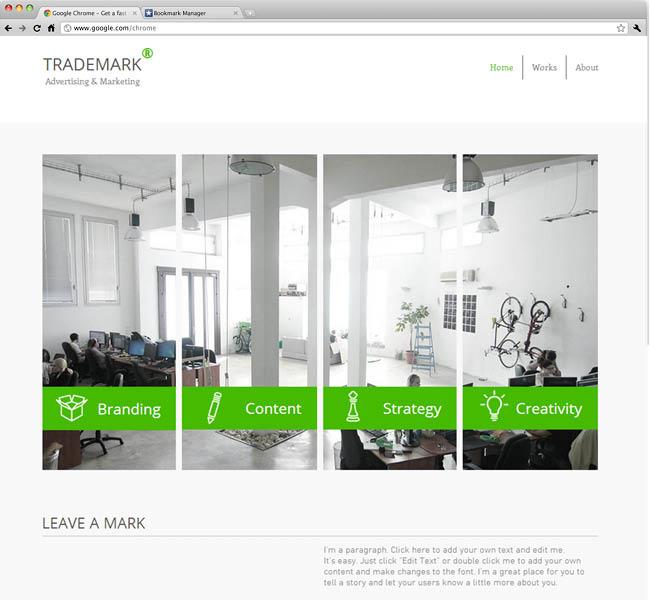 Шаблон сайта рекламного агентства