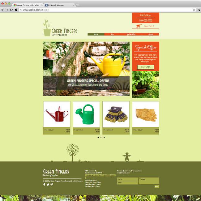 Шаблон интернет-магазина товаров для садоводства