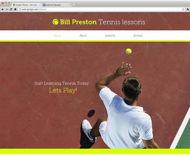 Шаблон сайта для персонального тренера