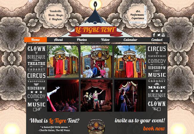 Сайт цирка-театра Le Tigre Tent