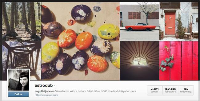 Страница Анжелики Джексон в Instagram