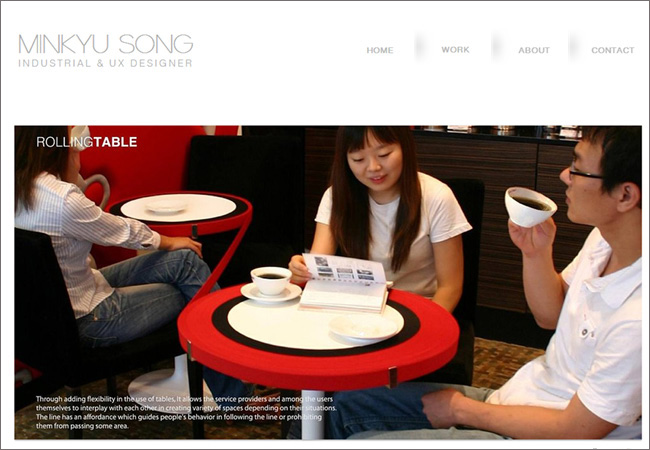Сайт UX-дизайнера Minkyu Song