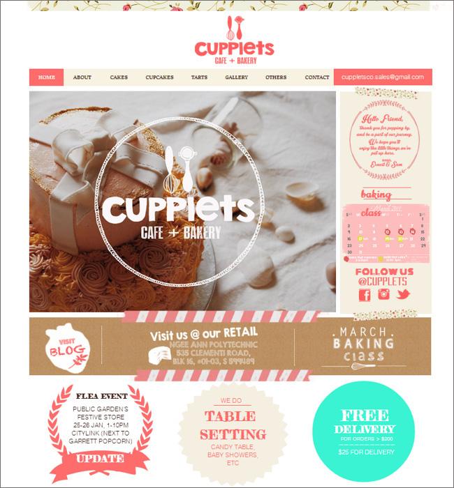 Сайт кондитерской Cupplets