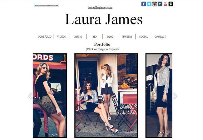 Wix-сайт Лауры Джеймс