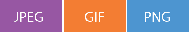 3 основных формата графических файлов
