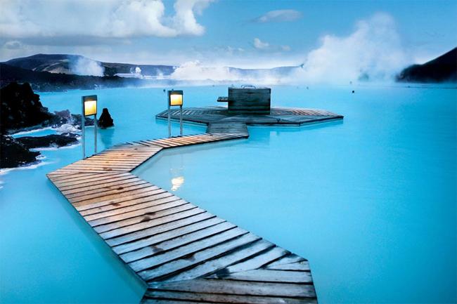 Геотермальный комплекс Blue Lagoon, Исландия