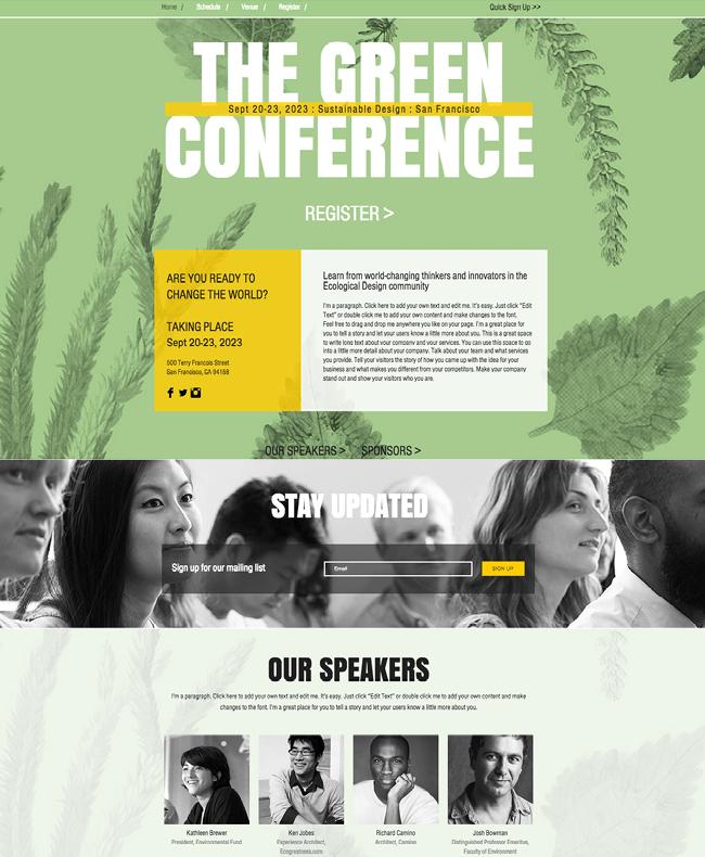 Шаблоня для сайта экологической конференция