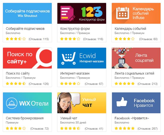 Инструменты для создания сайтов wix