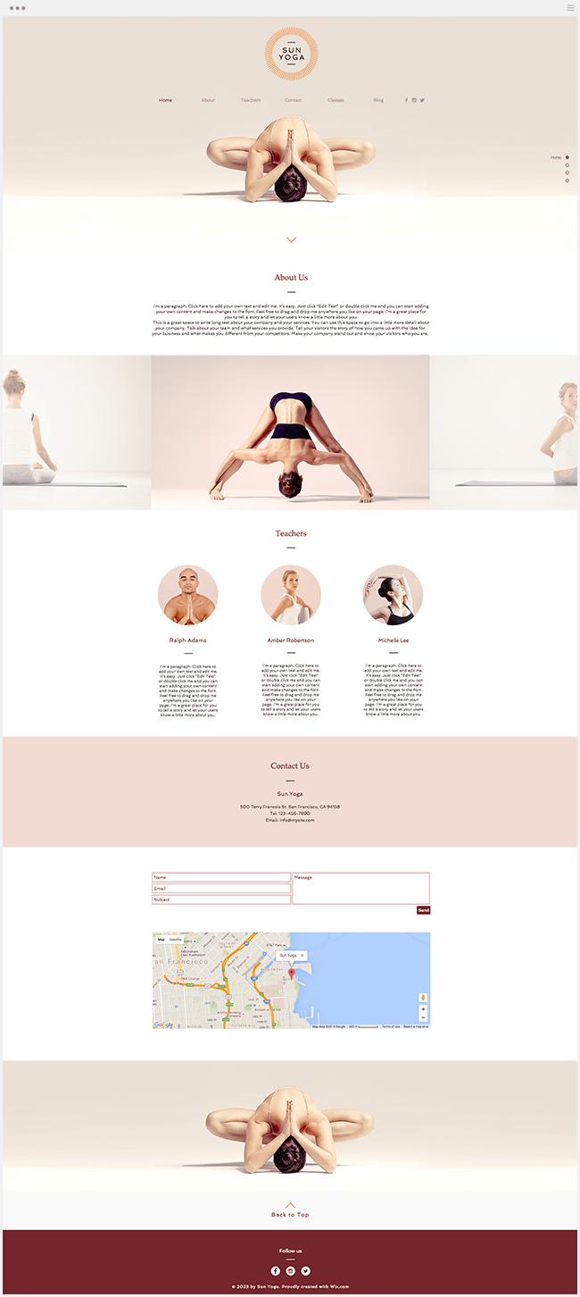 Сайт йога студии