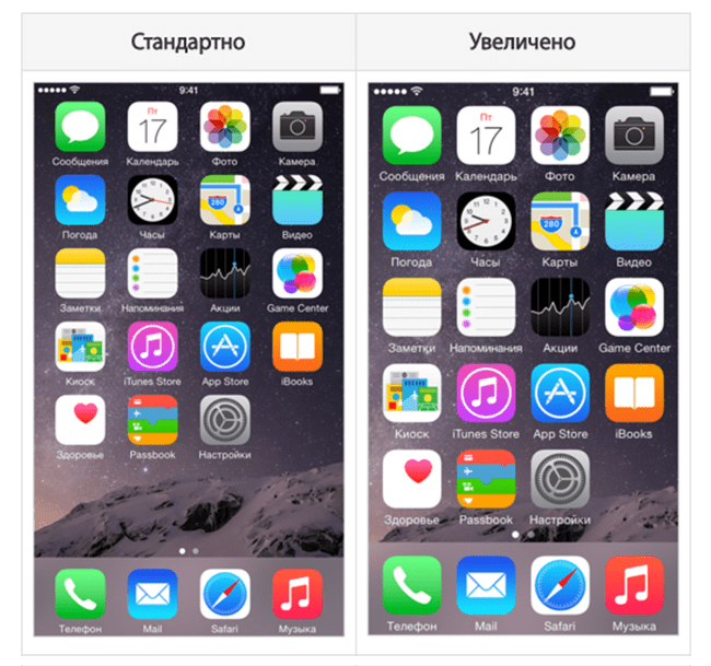 iPhone screen icons apps