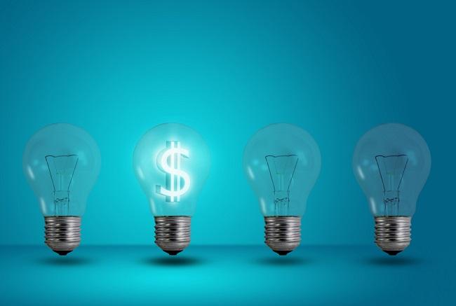 идея деньги лампочка